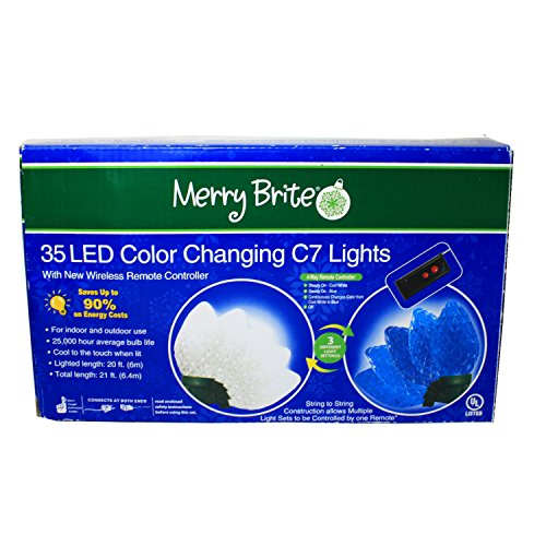 Led Color Changing C7 Lights Cool White To Blue - 2
