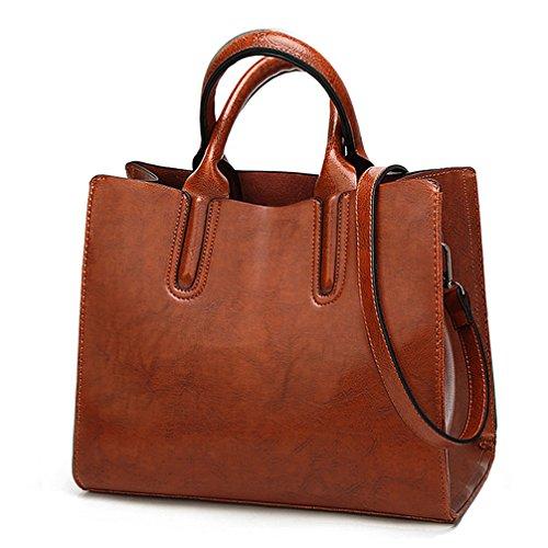 COCIFER Women Top Handle Satchel Handbags Shoulder Bag Top Purse Messenger Tote Bag - Leather Purse Under 30