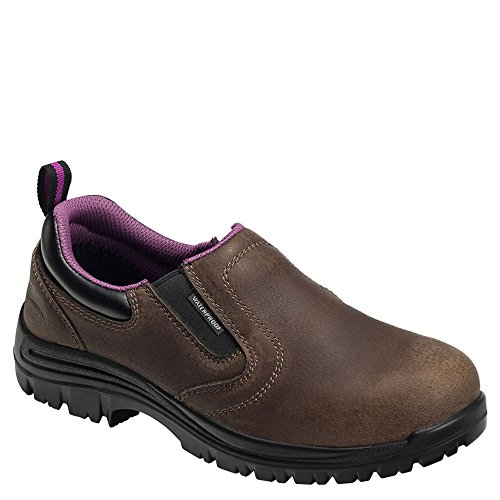 Avenger Waterproof Slip-On Composite Toe Women's Slip On 9 B(M) US Brown