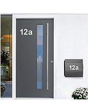 Wandora W1473 Muursticker huisnummer zelfklevend I wit hoogte 4 cm teken 3 I cijfers letters cijfers deur belettering