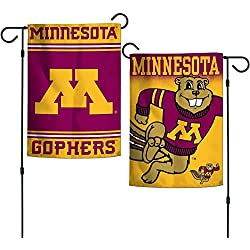 "Elite Fan Shop Minnesota Golden Gophers Garden Flag 12.5""x18"" - Red"