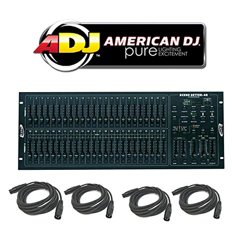 American DJ Scene Setter 48 Dimmer Console Light Controller (4) Dmx Cables -
