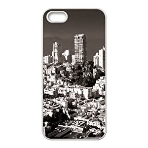 Pharrel Nob Hill San Francisco Case for IPhone 5,5S Unique Design by Rock, Cute Iphone 5s Cases for Teen Girls Cheap for Boys with White