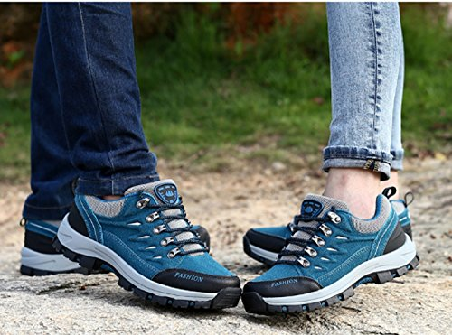 Low Walking Shoes Women's Shock Shoes Travel Anti Absorbing Shoes Outdoor Blue Running Air Gym Tech Trekking skid Leisure Ladies Waterproof Climbing Hiking Sports Fitness xYrxIf