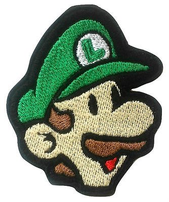 Birdo Costume (Luigi Patch (3.5 Inch) Embroidered Iron / Sew Badge Applique Costume Cosplay Mario Kart / Snes / Mario World / Super Mario Brothers / Mario Allstars)