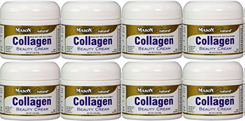 Collagen Beauty Cream Made with 100% Pure Collagen Promotes Tight Skin Enhances Skin Firmness 2 OZ. Jar PACK of 8