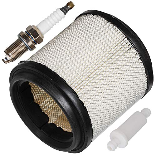 HIFROM 7080369 Air Filter Cleaner with Small Inline Fuel Filter 2530009 Spark Plug for ATV Polaris 250(1993), Polaris 250 Trail Boss(1987-1999), 250 Trail Blazer(1990-2000), 250 - Trail Polaris 1999 Boss