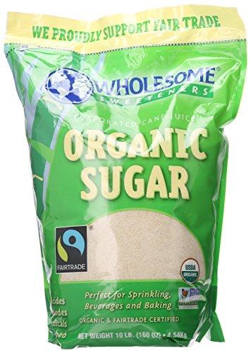 Wholesome Sweeteners Organic Fair Trade Cane Sugar, 10 lb, Single Unit