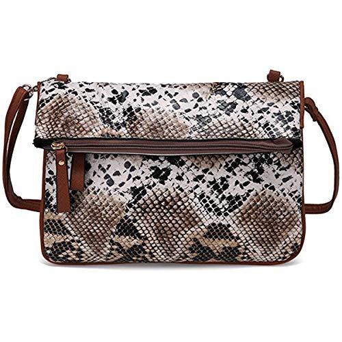 - RARITYUS Women Snakeskin Crossbody Bag Leather Shoulder Large Clutch Handbag with Removable Strap