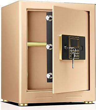 Caja Fuerte Empotrable Caja fuerte para la oficina en el hogar, cajas fuertes de acero para gabinetes de montaje en pared de piso pequeño, por dinero, libros, documentos de medicamentos, documentos, o: