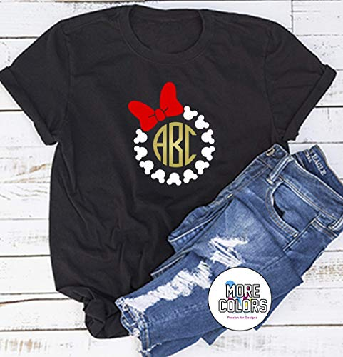 Personalized Monogrammed Mickey Minnie Mouse Shirt - Custom