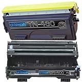 (1 Drum + 1 Toner) Replacement toner cartridges and drum for Brother TN460 DR400 Toner Cartridges and Drum replacement for Brother DR-400 TN-460 Set, Office Central