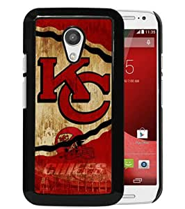 Fashionable And Unique Designed Case For Motorola Moto G 2nd Generation Phone Case With Kansas City Chiefs 21 Black