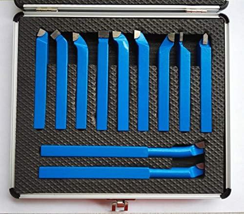 GENERICS LSB-Werkzeuge, 11 STÜCKE Metallcarbid CNC Drehwerkzeuge Hartmetall Gelötet Cutter Tool Bit Schneidsatz Kits Schweißen Drehen Werkzeughalter