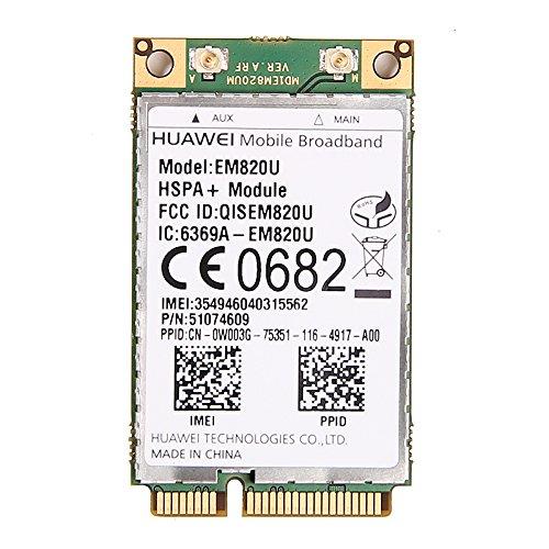HuaWei EM820U 3G WCDMA GSM WWAN Mini PCI-E Card HSPA+ 21Mb (Unlocked) by Huawei Technologies Co. Ltd.