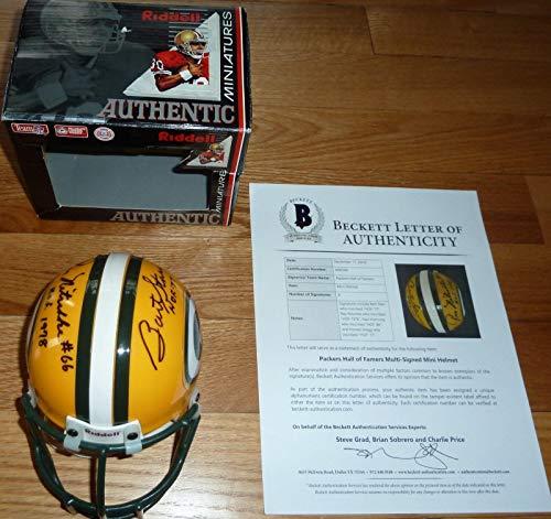 Beckett Green Bay Packers Hof Mini Helmet Signed Ray Nitschke-bart Starr +2 - Beckett Authentication