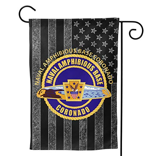 Naval Amphibious Base Coronado Welcome Yard Garden Flag Banners for Patio Lawn Outdoor Home Decor 12.5