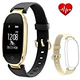 Fitness Tracker Flenco Heart Rate Monitor Touch Screen Health Tracker Activity Tracker Waterproof Wearable Step Counter Smart Bracelet Sport Watch Pedometer Wristband Sleep Tracker For Women Ladies Female Girls For Android & IOS Smartphone