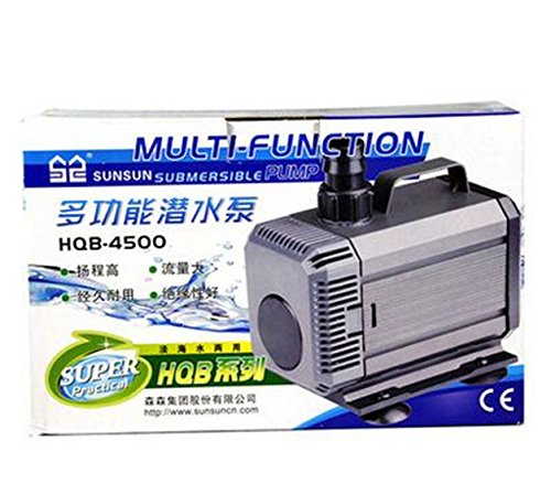 1400LPH-4500LPH Submersible Vivavium Aquafarm Tank Fountain Pond Water Pump with AU Plug Adapter (HQB-4500)
