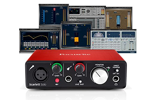 Focusrite Scarlett Solo (2nd Gen) USB Audio Interface + Waves Musicians 2 Bundle