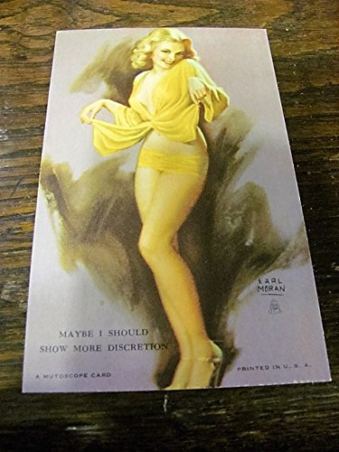 Earl Moran 1940s Mutoscope pinup girl arcade card-MAYBE for sale  Delivered anywhere in USA