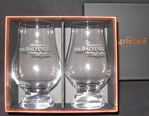 Balvenie Distillery Logo Scotch Malt Whisky Glencairn Two Glass Boxed Set