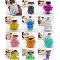 J&J Confezione 35g 12 colori differenti Perline Di Acqua Gel Perle di Acqua Cristallo Gel Terreno Gelatina Perline Vaso per Decorazione matrimonio Natale Giardino Cucina Soggiorno