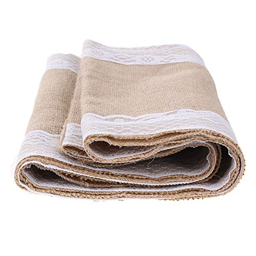 Runner Bag - 1 Roll Table Runners Sack Bags Jute Lace Wedding Christmas Decoration Luxury Burlap Linen Runner 295 - Belt Men Phone Ina For Pack by Unknown (Image #5)