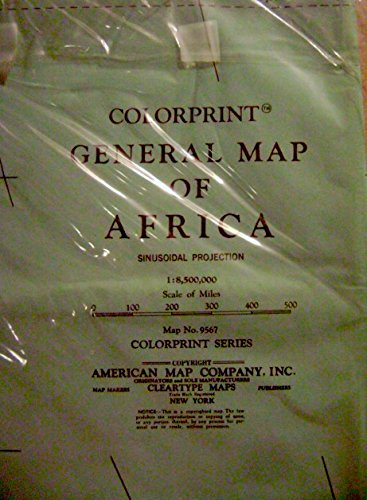 American Map Company Inc.General Map Of Africa N D Colorprint Series 9567 New York