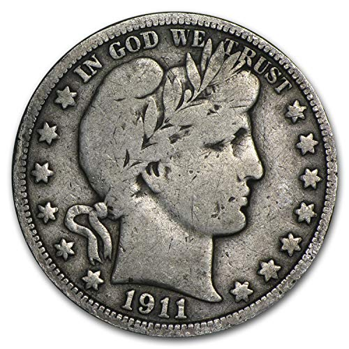 1911 Barber Half Dollar Fine Half Dollar Fine