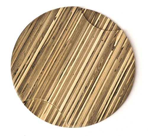 Brazilian Pecan Round Wood Cutting Board 12'' x 3/4'' by Indusparquet (Image #2)