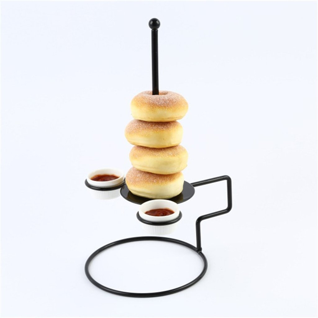 MagiDeal Metal Food Rack Dessert Holder Doughnut Snack Stand Rack Table Kitchen,Cake Tower Party Tree Serving Tray Cupcake Display Serving Platter for Weddings, Pastries, Birthday, Graduation non-brand