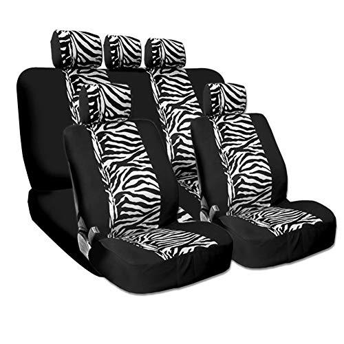 (Sanqing Car seat Cover Zebra Pattern car seat Cover 5 seat car Universal)