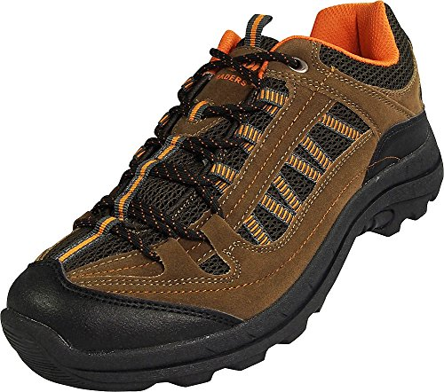 NORTY - Mens Cotton Traders Hiking Trail Walking Sneaker, Brown, Orange, Black 39056-9D(M) US