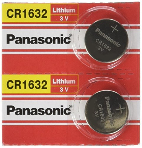 (Panasonic Battery - 2 PACK- CR1632 3V 3 Volt Lithium Coin Size Battery)