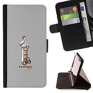 BullDog Case - FOR/Apple Iphone 4 / 4S / - / Funny S3Gway Beta /- Monedero de cuero de la PU Llevar cubierta de la caja con el ID Credit Card Slots Flip funda de cuer