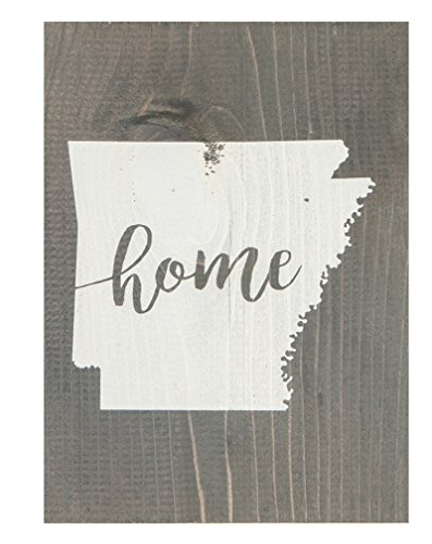 P. Graham Dunn Arkansas State Home Grey 5.5 x 7.5 Solid Wood Barnhouse Block - Arkansas Wood Sign