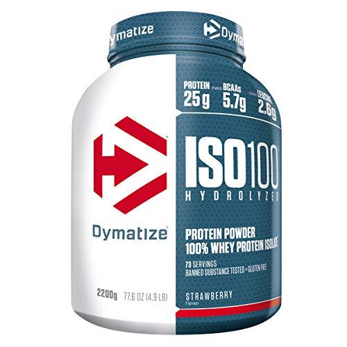 Dymatize ISO 100 Strawberry 2,2kg – Whey Protein Hydrolysat + Isolat Powder