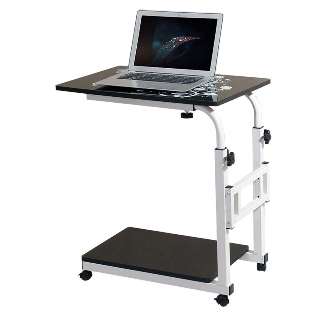 FEIFEI モバイルノートパソコンテーブル多機能調節可能な高さコンピュータスタンドベッドサイドテーブルソファサイドテーブルライティングデスク (色 : Black) B07F73JMNH Black Black