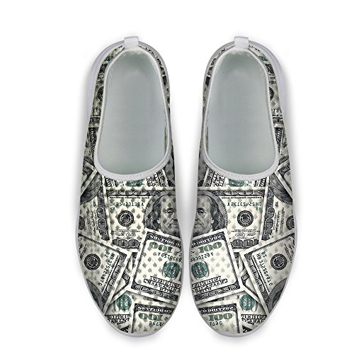 Dollar Stylish FOR Shoes U DESIGNS Sneaker Coin Print Casual Running Mesh Gray Unisexs RgRqw