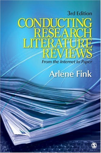 conducting research literature reviews internet paper third edition Coupon: rent conducting research literature reviews from the internet to paper 4th edition (9781452259499) and save up to 80% on textbook rentals and 90% on used textbooks.