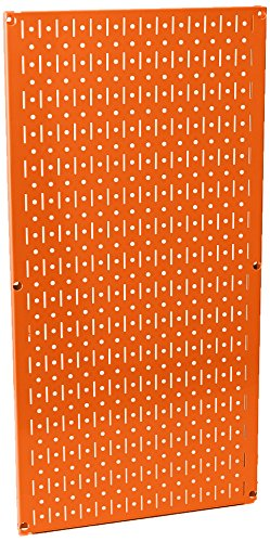 Wall Control Pegboard 32in x 16in Orange Metal Pegboard Tool Board Panel
