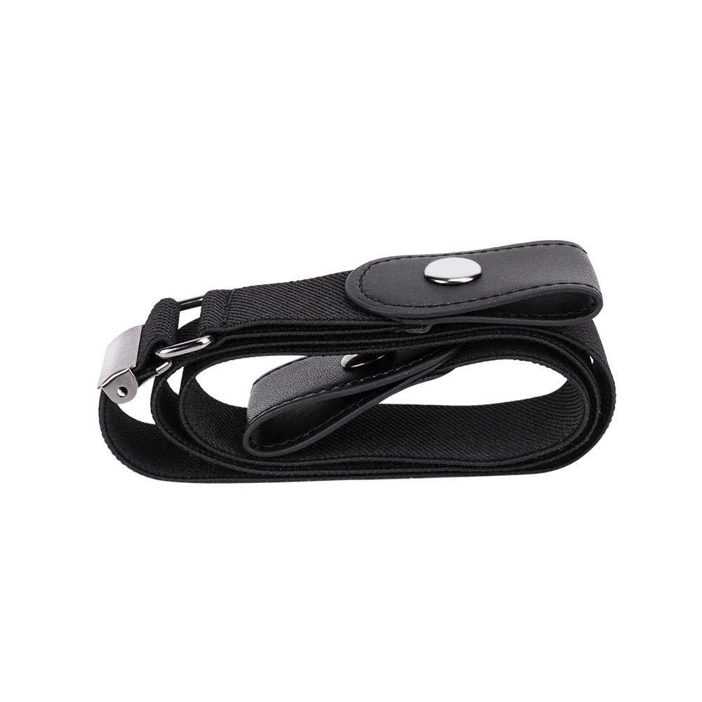 AUOKER Cinturón de Mujer Elástico Sin Hebilla, Mujeres Cinturón sin Hebilla para Hombres Cintura elástica cómoda Jeans Pantalones Cinturones, Ajustable 23