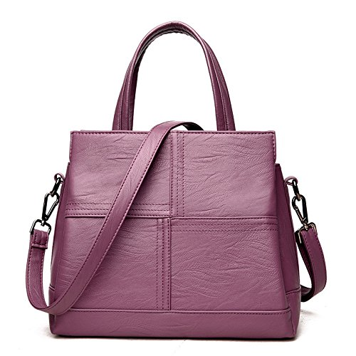 Handbag Shoulder Bag Splicing Fashion Trend Of Purple Ladies