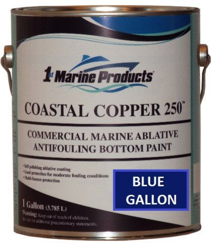 Copper 250 Ablative Antifouling Bottom Paint BLUE GALLON ()