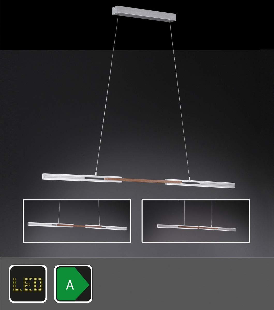 Exklusive - Lámpara colgante LED en aluminio cepillado con ...
