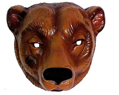 Bear Mask Plastic Oversize Adult Mask with -