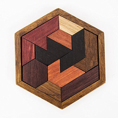 Puzzles Games Wooden Puzzle Pieces 11 Tangram Jigsaw Puzzle Educational Toy and Gift to Kids For Birthdays, Easter, Christmas,DIY Present Packing
