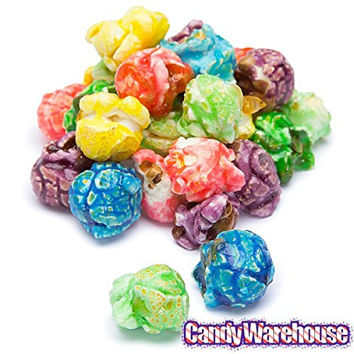 Rainbow Candy Coated Popcorn Buffet Table Decor - Assorted Fruit Flavors 1 Gallon Bag