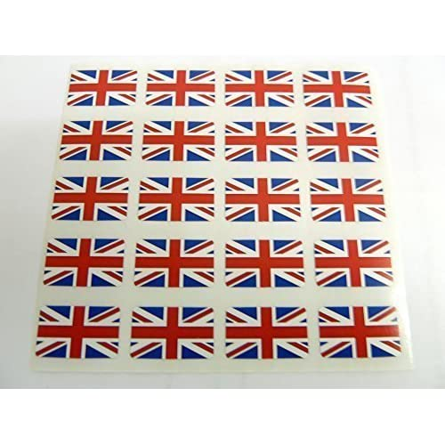 Mini Pack autocollant, 20x12mm rectangle, autocollantes Union Jack étiquettes, Grande Bretagne self-adheisve, Royaume-Uni UK DRAPEAU autocollants